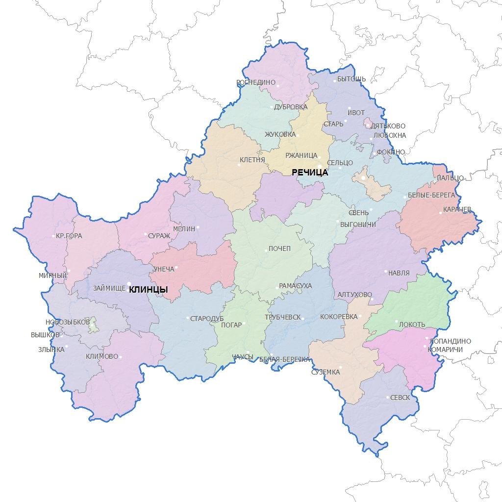 брянская область карта картинка таиланде это незабываемые