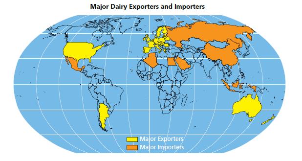 Производство молока в мире в 2014 году вырастет на 2,1%