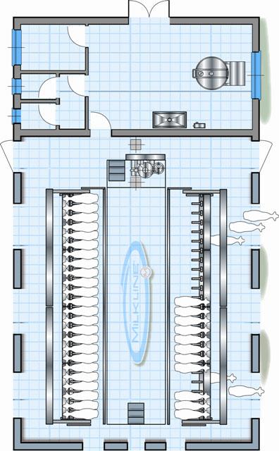 Схема доильного зала